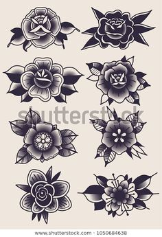 Find Vector Black Flowers Traditional Tattoo Designs stock images in HD and millions of other royalty-free stock photos, illustrations and vectors in the Shutterstock collection. Thousands of new, high-quality pictures added every day.