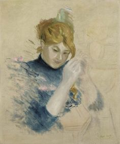 Berthe Morisot - Devant le toilette - 1894 - Olio su tela 55 x - Collezione privata French Impressionist Painters, Berthe Morisot, Mary Cassatt, Edouard Manet, Types Of Art, Type Art, Global Art, French Artists, Art Market