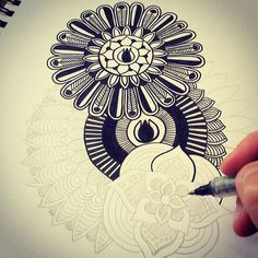 Getting some drawing done today for new products to add to my etsy store. :-) #art #artist #zentangle #design #drawing #etsy #etsyshop #creative #pen #black