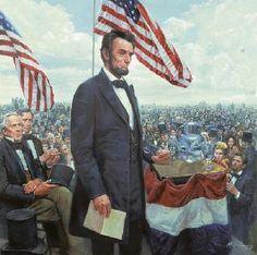"""Gettysburg Address"" by Mort Kunstler."