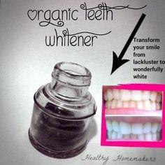 Organic, Homemade Teeth Whitener