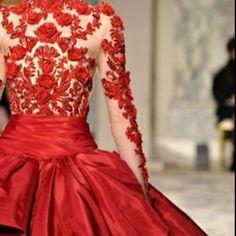 #Red wedding dress - spectacular