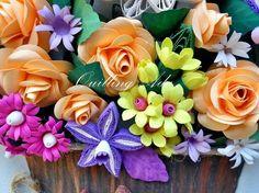 Quilling by Ada: Ghiveci cu flori