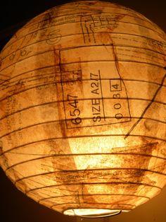 12 Vintage Sewing Pattern Lantern by traceyleeliveshere on Etsy, $42.00