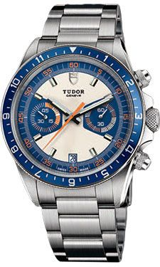 Tudor Heritage Chrono Blue -  Oh, man, what a sweet watch!  The looks of a classic Rolex at a marginally lower price.
