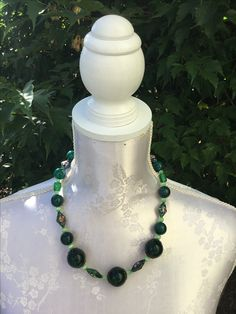 Kette green, sFr. 19.-- Pearl Necklace, Beaded Necklace, Pearls, Jewelry, Fashion, Stones, String Of Pearls, Jewellery Making, Moda