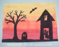 Learn how to make this spooky painting at Crafts For All Seasons. This introduces kids to blending paint colors.
