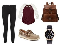 Untitled #36 by silverstars101 on Polyvore featuring Hollister Co., Current/Elliott and Sperry