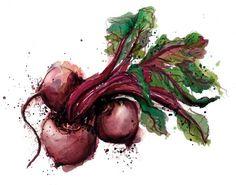 Georgina Luck, using watercolors to make food beautiful