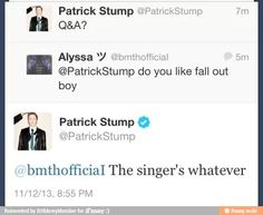 This is one of the many reasons I love fall out boy