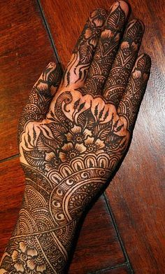Rajasthani Hand Mehndi Design