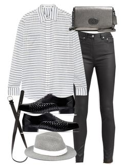 """""""Untitled #18383"""" by florencia95 ❤ liked on Polyvore featuring AllSaints, Elizabeth and James, Coach, H&M, Cole Haan and rag & bone"""