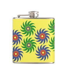 Coloridas formas patrón abstracto flores. Regalos, Gifts. #bottle #botella