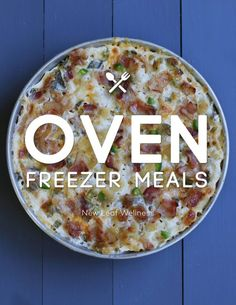 Oven Freezer Meals. Fall is here! It's time to crank up your oven and make some delicious family meals.