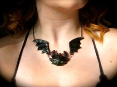 Toothless Necklace by RedDingoDesigns on Etsy