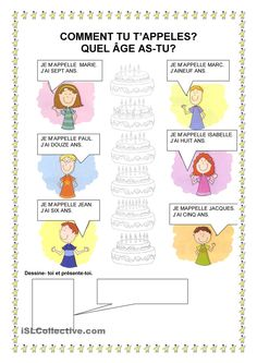 Comment tu tappelles? Learning French For Kids, French Language Learning, French Teaching Resources, Teaching French, French Worksheets, Worksheets For Kids, French Class, French Lessons, French Adjectives