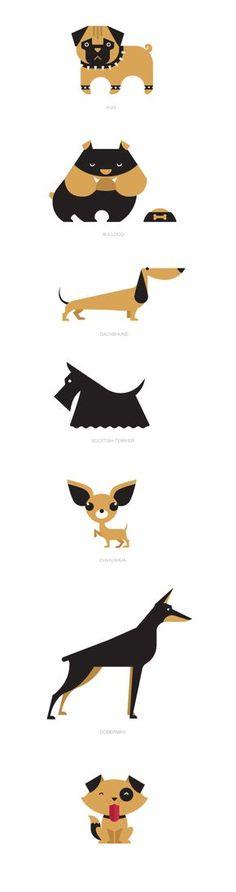 Dibujo perro raza ilustración
