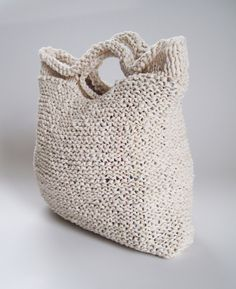 crocheted t shirt yarn tote bag