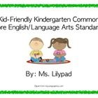 This product consists of 71 posters for the Common Core English/Language Arts.  Each page has a green border and contains an