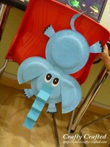 Lots of kids craft ideas including using paper plates for animal crafts for kids always turns out adorable. Love this Horton Hears a Who craft! 4H cloverbud!!!