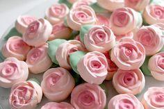Rose Meringue Cookies for Mother's Day - SweetAmbsSweetAmbs