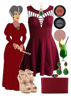 """""""Lady Tremaine Spring Cocktail Party"""" by detta13 ❤ liked on Polyvore featuring Disney, I Heart Footwear, LE VIAN, Judith Leiber, MAKE UP FOR EVER, Stila, Hourglass Cosmetics, Amrita Singh, disney and cinderella"""