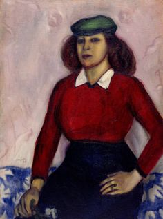 Marc Chagall, Portrait of the Artist's Sister Aniuta, 1910. Oil on canvas
