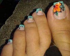 Pies Pedicure Designs, Toe Nail Designs, Pretty Toes, Pretty Nails, Toe Nail Art, Easy Nail Art, Cute Pedicures, Feet Nails, Pretty Nail Designs