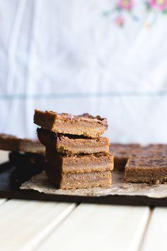 Saffron and Cardamom Burnt Butter Caramel Slice