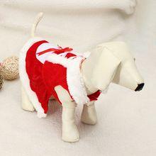 Winter Dog Cat Pet Clothes Christmas Pet Dog Clothes Santa Claus Costume Outwear Coat Hoodie dog skirt winter(China (Mainland))