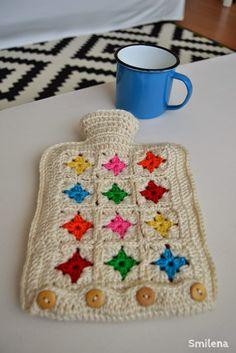 crochet hot water bottle cover