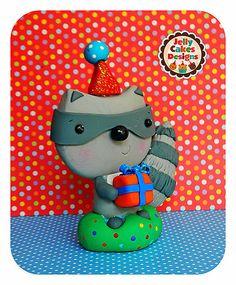 Birthday Raccoon topper | by Jelly Lane Studios
