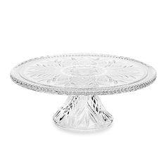 Godinger Dublin CrystalCake Plate