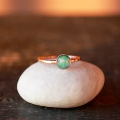 Opal and Gold Solitaire Ring 14k Recycled Gold by ShopClementine