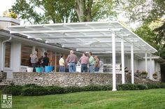 Cover your outdoor dinning area with the largest patio cover without center post hindering placement of tables and chairs.  Call Palmetto Outdoor Spaces for a free consultation. Serving Greenville, Anderson, Spartanburg, and surrounding areas.