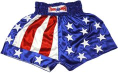 THAI BOXING SHORTS USA BS-1167