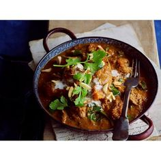Lamb, kumara and almond curry recipe - Enjoy this hearty and nourishing lamb, kumara and almond curry on a winter's night.