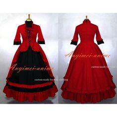 Free Shipping Victoria Rococo Medieval Gown Gothic Lolita Punk Ball Dress…
