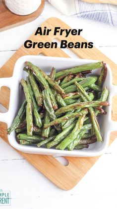 Air Fried Green Beans, Grilled Green Beans, Asian Green Beans, Veggie Recipes, Whole Food Recipes, Healthy Recipes, Healthy Options, Diabetic Recipes, Asian Recipes