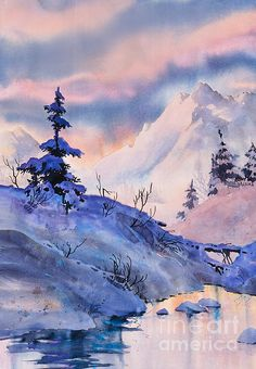 Spruce Shadows. watercolor, 20 x 30 Teresa Ascone