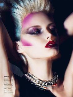 Model makeup red lipstick for L'Officiel Manila Magazine October 2015 Photoshoot