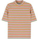 BAUHAUSMulticolor Stripe Mock Neck T-Shirt | MIXXMIX