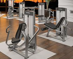 Life Fitness Optima Series Equipment in a Hotel Gym Fitness Machines, Workout Machines, Weight Training Equipment, Hotel Gym, Weight Benches, Keep Fit, Clean Design, Hospitality, Exercise