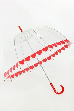 Heart Trim Umbrella: i need this for the Cape Town winter - rstyle.