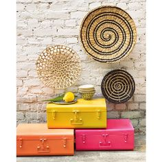 Masa Metal Trunk LA REDOUTE INTERIEURS This practical, fun Masa trunk transcends the generations and looks bang up-to-date in brightly coloured metal !Description of Masa trunk :