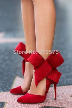 96407276c1c96d Sophia Webster women Evening Spring Royal Blue Footwear Red Nude Bow Tie  Pumps Pointed Plus Size Summer High Heels Shoes-in Women s Pumps from Shoes  on ...