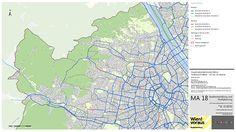 copyright: MA 18 / Plandarstellungen des Hauptradverkehrsnetzes