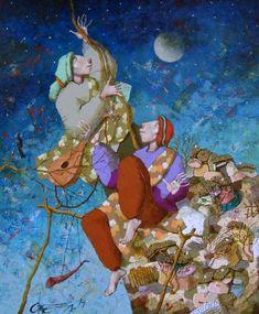 """""""Upward, upward"""" 55x46 cm, Angel Gerdzhikov"""