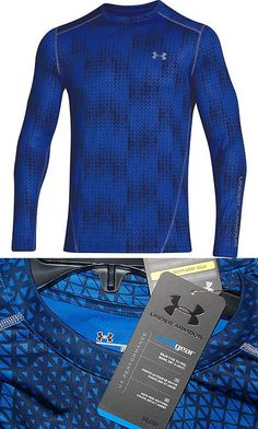 Shirts 59368: Under Armour Mens Coldgear Evo Crewneck Long Sleeve Shirt Scatter Blue -> BUY IT NOW ONLY: $49.95 on eBay!