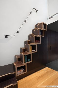 4. A ribbon staircase is a great idea for a small space because it's more vertical than a traditional staircase, it still has wide treads, and it creates a unique focalpoint in your home. Inspiration from Treppen & Bauelemente Schmidt GmbH. Pinterest Facebook Twitter Tumblr